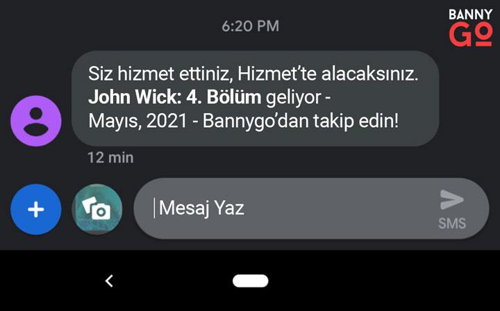 John Wick 4 - Message - Mesaj Yazı duyuruldu