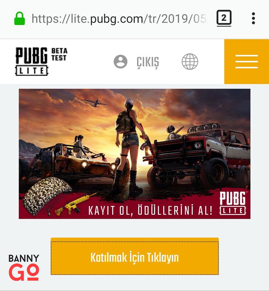 PUBG Lite Türkiye Ön Kayıt