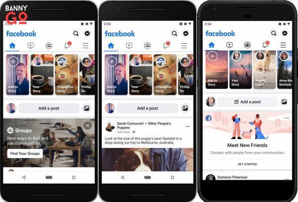 Facebook Yeni Mobil Tasarım
