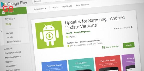 Sahte Samsung Güncelleme Uygulaması