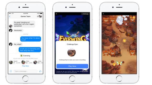 Facebook Instant Games Taşınıyor