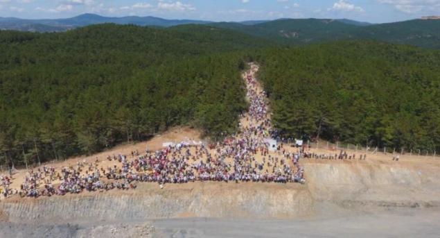Kaz Dağları protesto