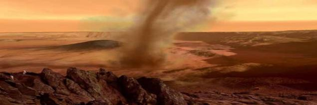 mars gezegeni fırtına