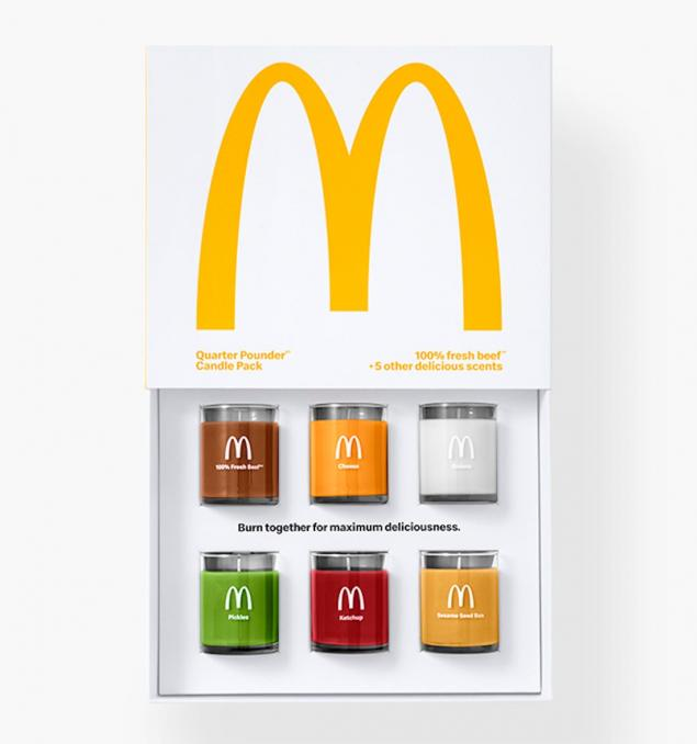Quarter Pounder Burger Candles