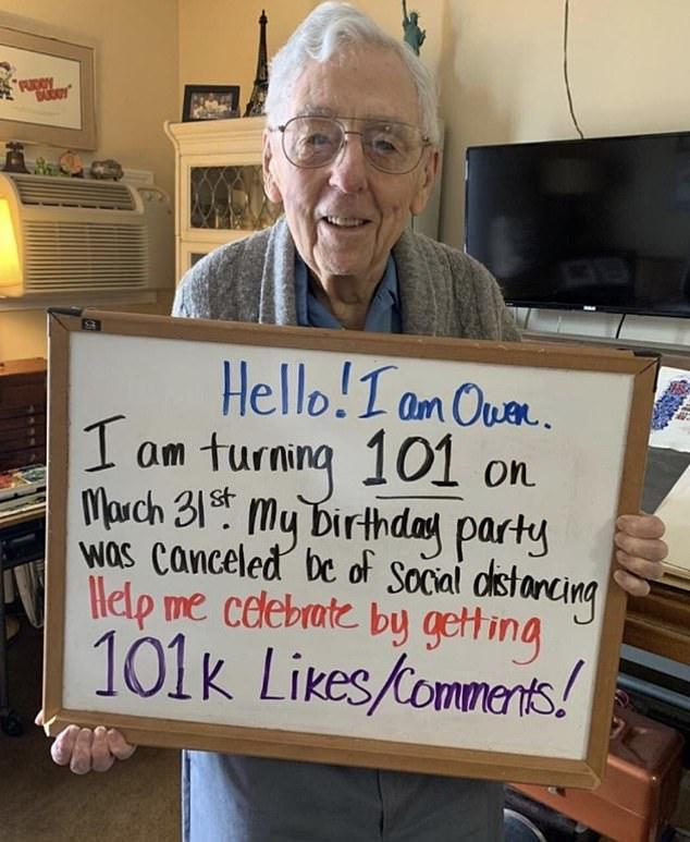 Owen 101 years old wants something for his birthday