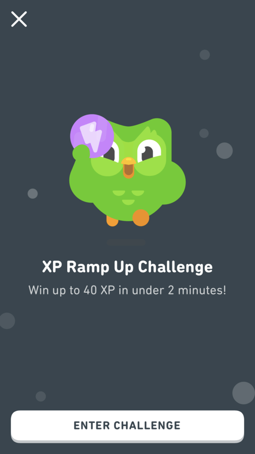 Duolingo XP Ramp Up