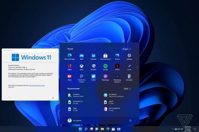 Windows 11 Başlat menüsü