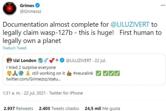Ünlü rapçi Lil Uzi Vert, Dünya'dan 332 ışık yılı uzaklıkta bulunan ve bir ötegezegen olan Wasp-127b ile yasal olarak kalmak için dökümanları hazırladı.
