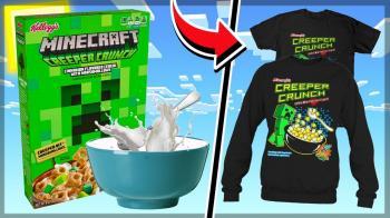 Minecraft Creeper Crunch Mısır Gevreği İncelemesi - Kahvaltıda Oyun
